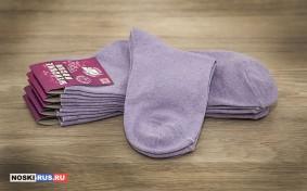 Сиреневые женские носки 38-40 размера