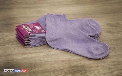 Сиреневые женские носки 35-37 размера
