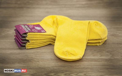 Желтые женские носки 35-37 размера