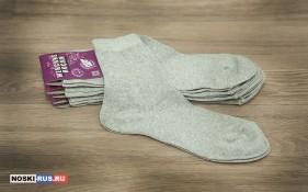 Светло-серые женские носки 35-37 размера
