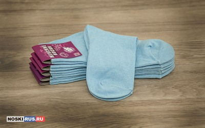 Голубые женские носки 35-37 размера