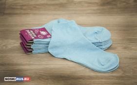 Голубые женские носки 38-40 размера