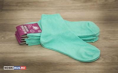 Бирюзовые женские носки 35-37 размера